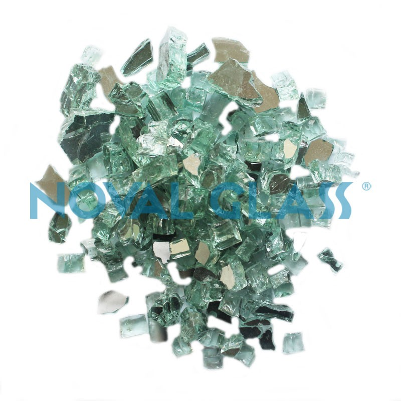 Hot Sale Customized Light Green Reflective Crushed Glass