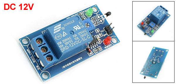 DC 12V 1 Channel Universal Temperature Thermal Sensor Relay Module