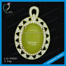Charm 925 Sterling Silver Single Stone Pendant