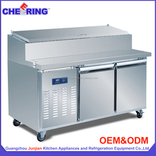 520L high quality commercial display pizza refrigerator with double door OEM factory GuangZhou