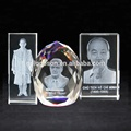 Custom 3d Laser Crystal President Photo Souvenir Engraved Shape/Cube Crystal Decoration