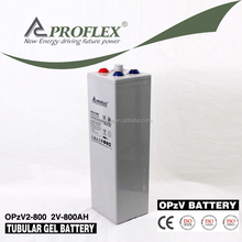 Tubular plate sealed lead acid OPzV battery 2v 800Ah