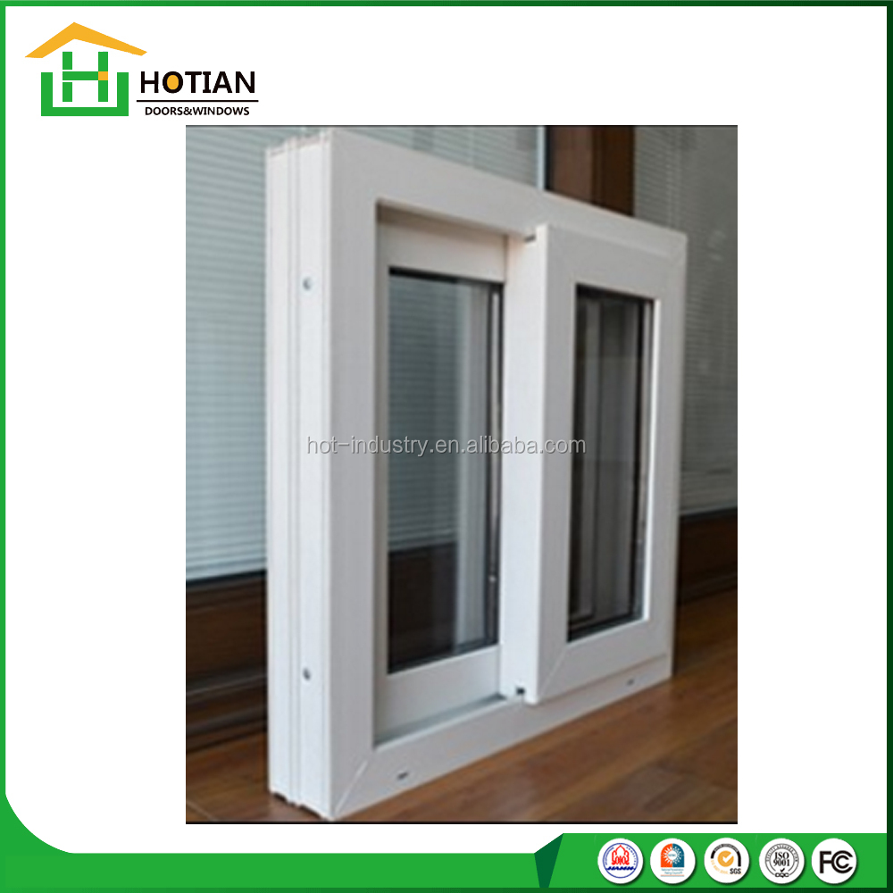 American style J-channel profile pvc sliding windows cheap price upvc window with fin flange