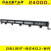 "DAKSTAR DALB1F-8240J-MR 240W IP67 50"" single rowled light bar offroad aluminum housing led light bar cree led light bar"