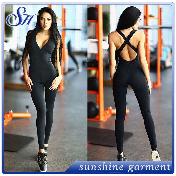 2016 latest designs sexy wear sport lycra catsuit for girls