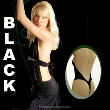 LJVOGUES Fashion forms bodysuit clear strap full body shaper thong deep plunge backless