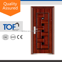 Latest design top sale stamped window coverings steel doors