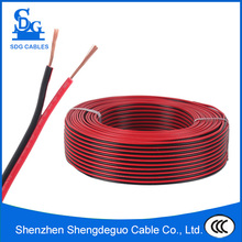 2 core 1.5mm2 pvc red and black parallel spt twin flat speaker wire