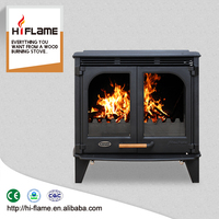 Brand new HiFlame cast iron wood stoves style cheap wood fireplace with double doors HF577D