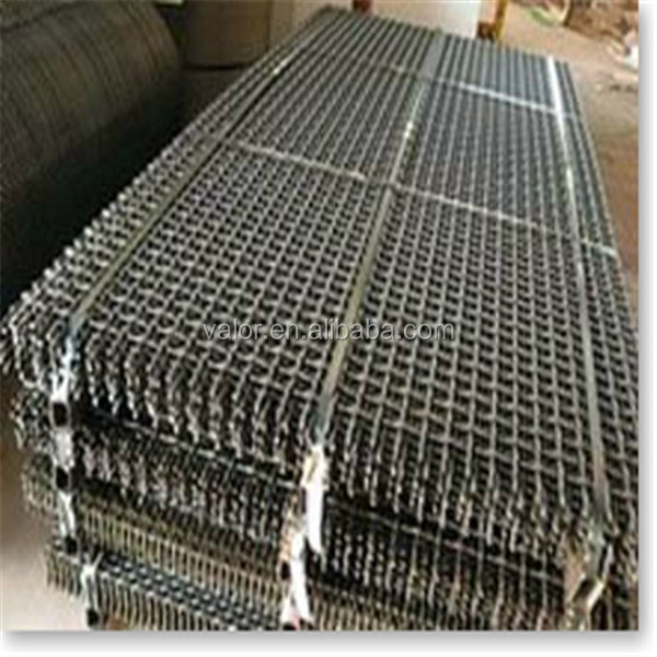 China suppliers stucco crimped mine sieving gravel screen wire mesh