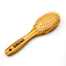 Eco-Friendly wood boar bristle hair brush high quality bamboo rolling hair brush