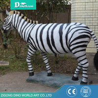Garden Decoration Fiberglass Animal Zebra Statues
