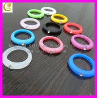 Free mould! promotional wholesale rhinestone silicone finger ring, colorful rhinestone silicone finger ring 16mm, 18mm,20mm