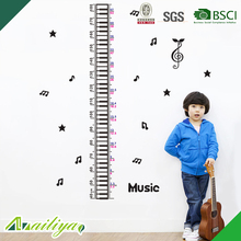 beautiful non-toxic BSCI kids height measurement wall sticker growth chart