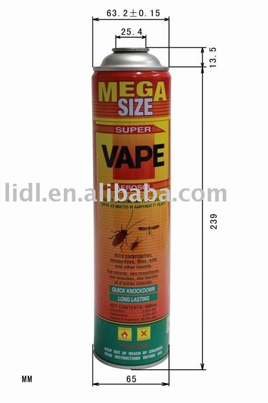 high quality cheap factory 600ml aerosol pesticide