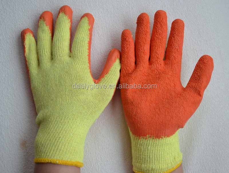 softtextile knitted liner coated cheap latex on palm safety working gloves