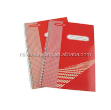 A5 size paper notebook spiral binding custom wire-o diary notebook manufacturer for gift