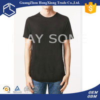 Wholesale mans cheap stylish plain black cotton short sleeve t-shirts