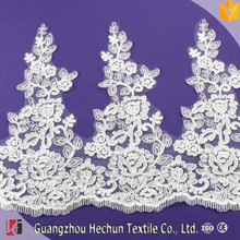 HC-2329 Hechun Hot sale high quality crystal bright silk lace trim