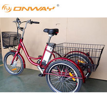 ONWAY three wheel adult cargo electric tricycle