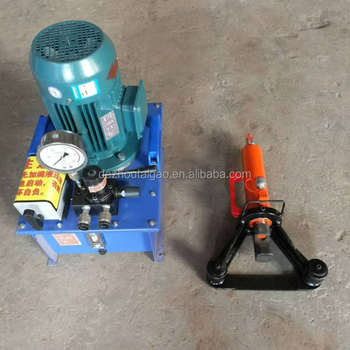 WJ-32 steel rebar bender machine with electric hydraulic pum for construction