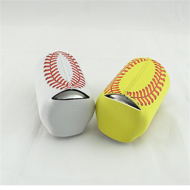 Wholesale Factory High Quality Sublimation 3 mm Neoprene Baseball Collapsible Can Cooler Sleeve