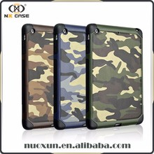 2017 New arrival camouflage design for ipad mini case leather