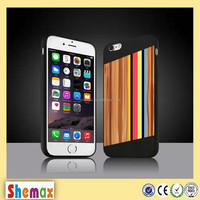 Mobile phone shell color stripe wooden bamboo wood stick PC case for iphone5/ 5s