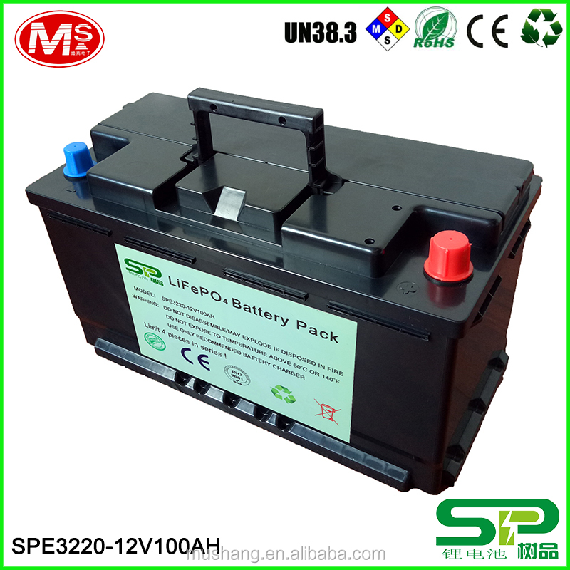Hot selling 12V 100Ah for electric golf car battery LiFePO4 battery pack