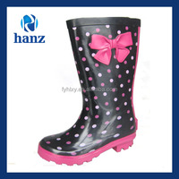 fancy girls wellies dot printed kids cute rubber rain boots
