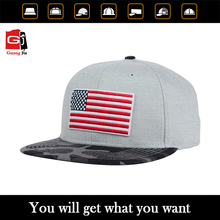 american country flag pattern cheap wholesale 6 panel snapback hat cap