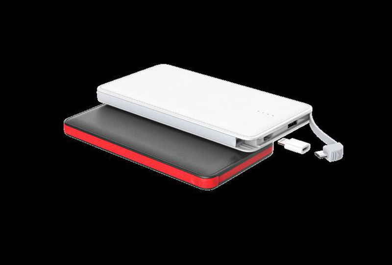 Power Bank with Built in Charging Cable 10000 mAh Quick Charge Powerbank External Battery Charger