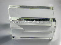clear blank crystal block for engraving