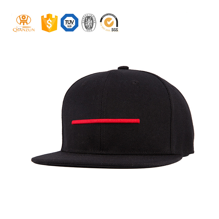 Fashion Black 3D Embroidery Snapback Cap/Hat With Star