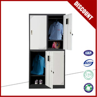 4 door stainless steel locker cabinet clothes cabinet school locker for sale