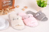 Winter Women Indoor Slippers High Quality Different Color Women Fashion Slippers Winter Cotton Sheepskin Slippers