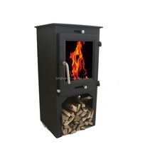 Steel Wood Burner With Log Store