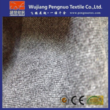 grey melange color fabric for workwear fabric/poly wool winter coat fabric