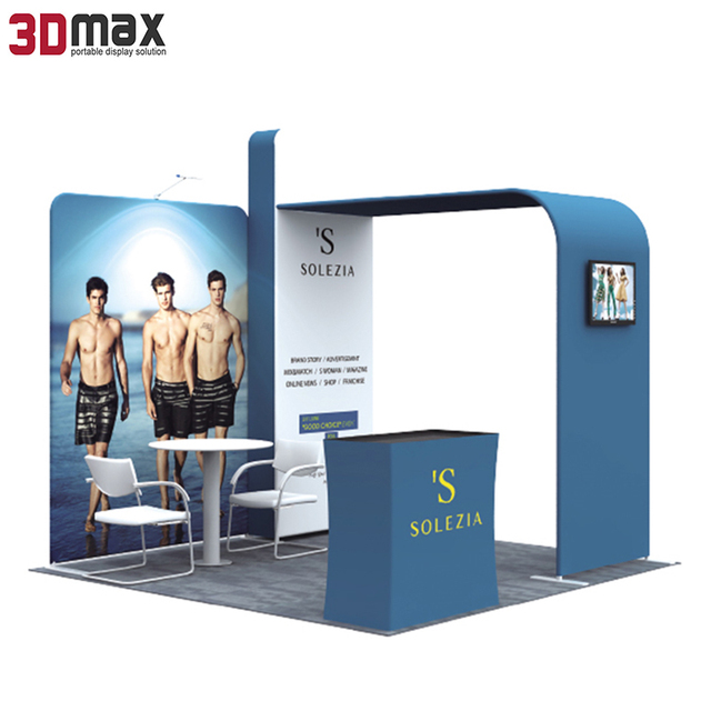 China Fashion Aluminum Standard Trade Show Exhibition Display Booth System Design 3x3 10x10