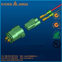 IP68 Waterproof 2Pin Wire to Board Pcb-mounted Autmotive Electric Wire Connector with Terminals