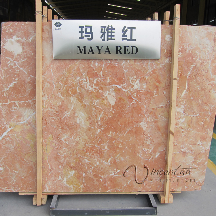Factory professional natural marble stone mara red big slab for sale