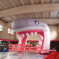 Inflatable Shark Arch for Outdoors Advertising