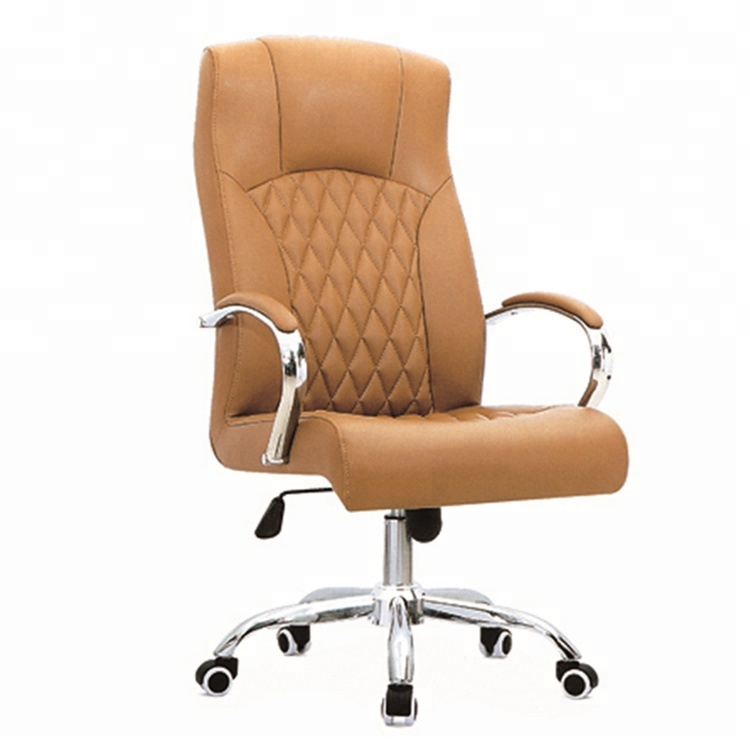 Comfortable Manager Chair Height Adjust PU Office Chair Senior Swivel Chair For Meeting Rooms