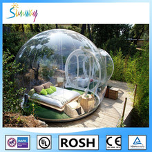 Sunway Inflatable Transparent Clear Camping Tent Bubble Lodge Tent for Rent