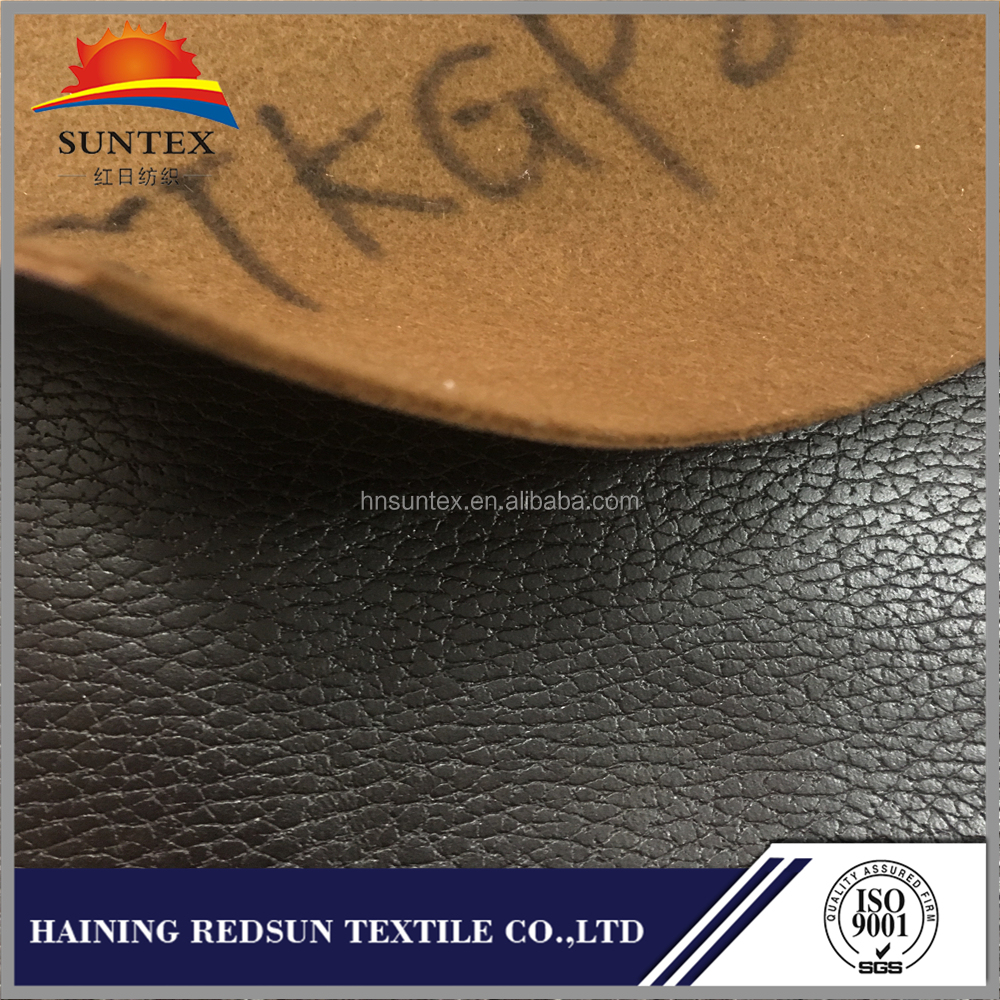 100 Polyester Upholstery embossed Leather Like Fabric