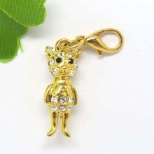 Eco-friendly Gold Plating Alloy Pendant Portrait Pendant Floating Charm