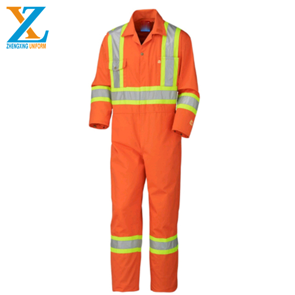En11612 Coveralls With Reflective Tape Cotton Flame Resistant Clothing