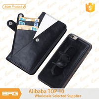 BRG For iPhone 6 Accessories ,2in1 Detachable Magnetic Leather Wallet Case For iPhone 6