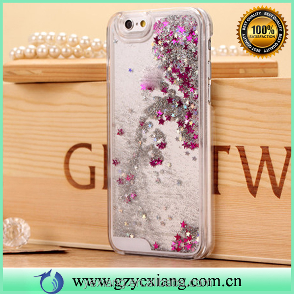 Top selling quicksand case liquid glitter pc cover for iphone 4s pc case phone cover
