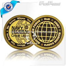 Navy Air Force army gold enamel double Coin
